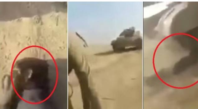 فيديو مفجع| قاموا بقتل هذا الطفل وسحقوه تحت الدبابة بلا رحمة في الموصل! مشاهد مرعبة وبشعة جداً .. لأصحاب القلوب القوية فقط!