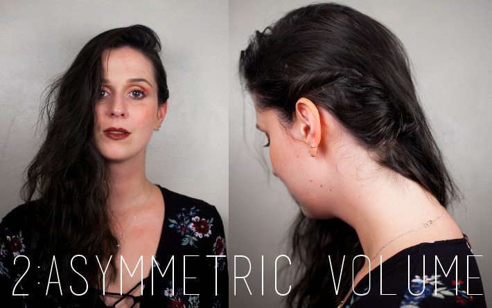 Festival hair: asymmetric volume
