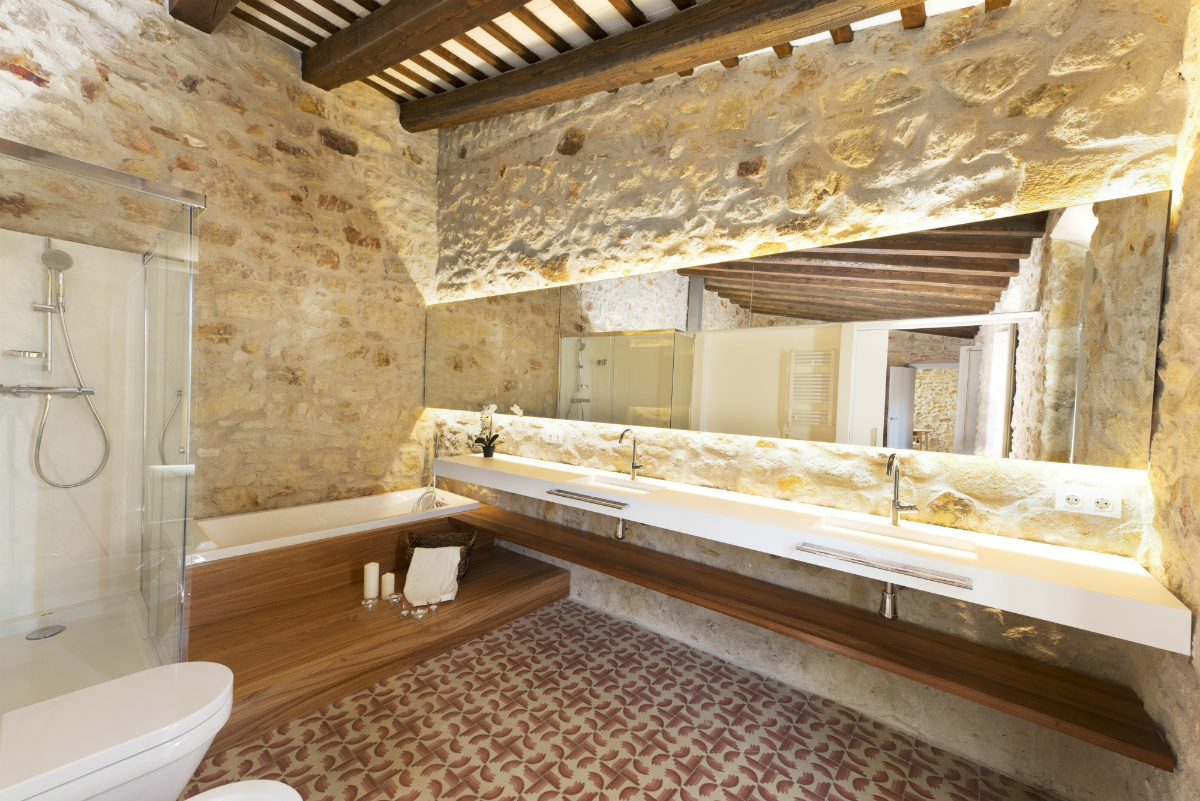 Una casa di pietra in spagna - Case in pietra interni ...