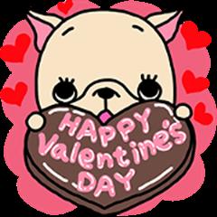 Frebull-chan Valentine's day sticker