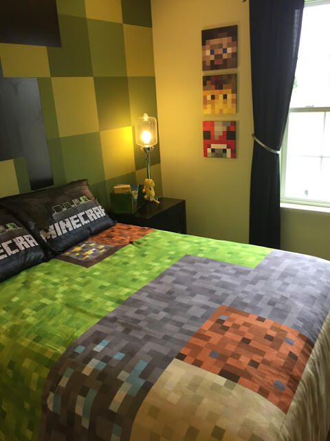 Decorative Bedcover Sheets Minecraft Bedroom Design Theme. 10 Creative Ways Minecraft Bedroom Decor Ideas In Real Life