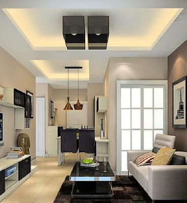 gambar model plafon ruang tamu kecil terbaru