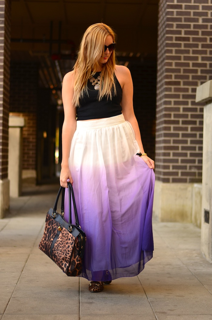 Crop top and Maxi Skirt Outfit