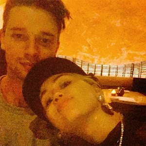Miley cyrus Snuggles Up To patrick Saint Patrick Schwarzenegger In Sweet Saint Valentine's Day Selfie
