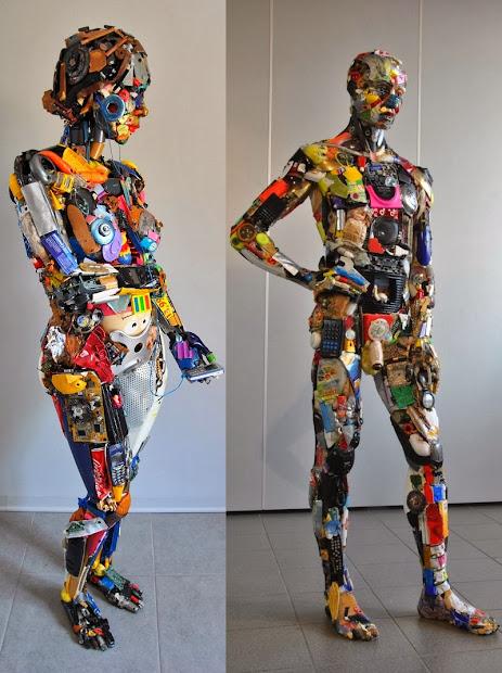Simply Creative Incredible Junk Sculptures
