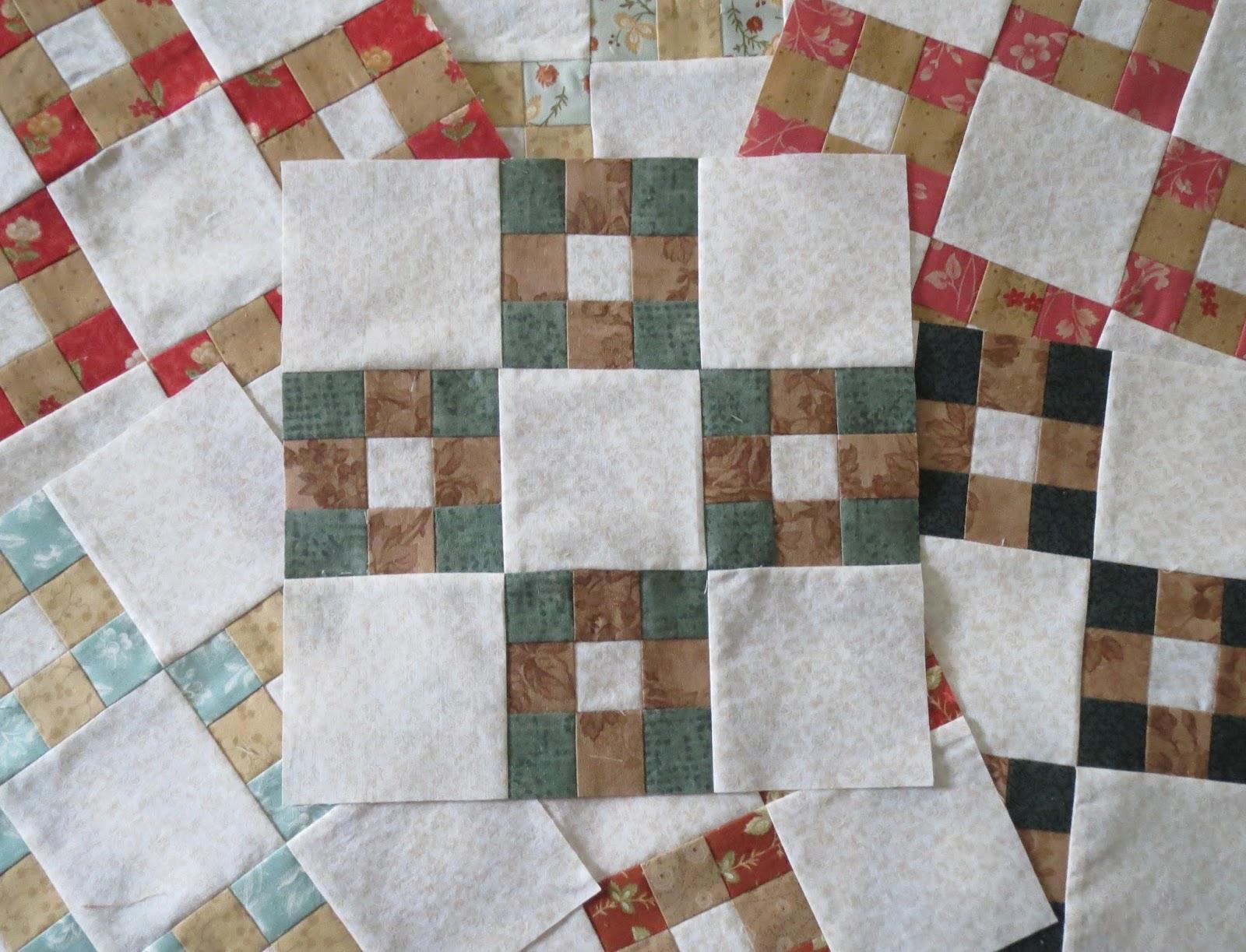 12 double nine patch quilt block
