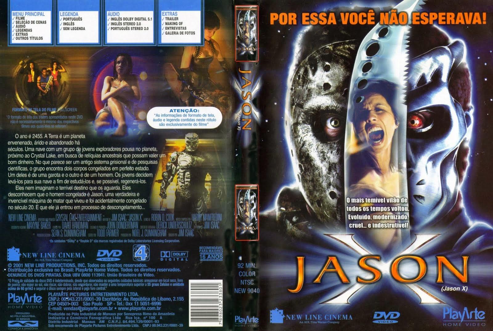Sexta-Feira 13 Parte 10 - Jason X DVD Capa