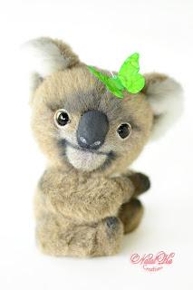 Artist teddy koala, ooak koala bear, handmade koala, NatalKa Creations, teddies with charm, Teddy Koala, Teddy Koala, Koala Bär