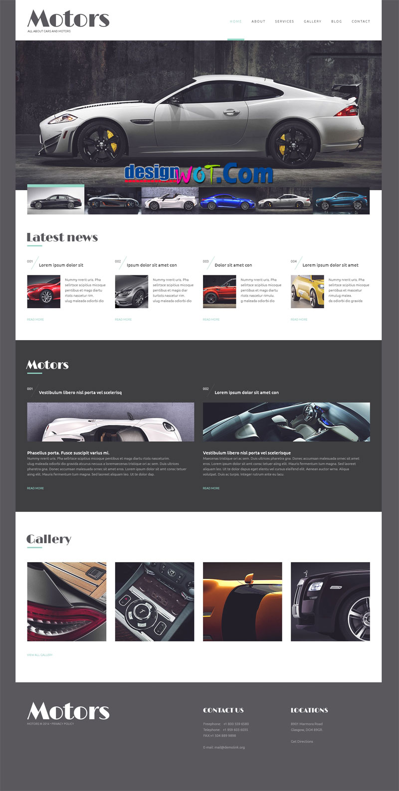 Automobile Manufacturer WordPress Responsive Theme