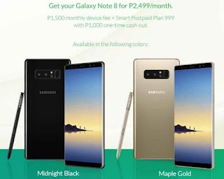 Samsung Galaxy Note 8 - Only P2,499/month via Smart Postpaid Plan