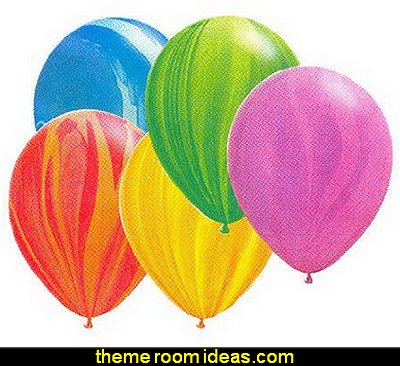 Rainbow Agate Assortment Balloons   party table supplies - party decor - table decorations - party essentials -  birthday party - baby showers - bridal showers - wedding party - party food - party table decorations