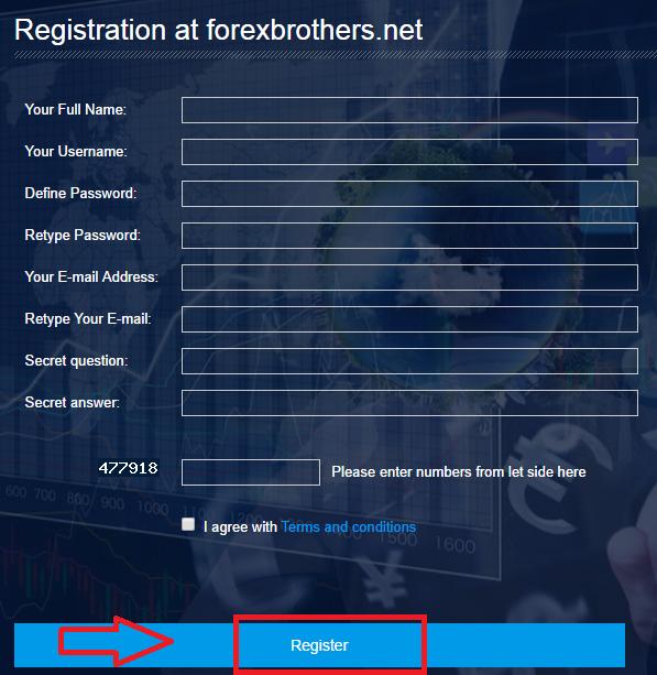 Регистрация ForexBrothers 2