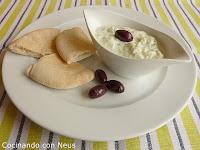Salsa de yogur con pepino