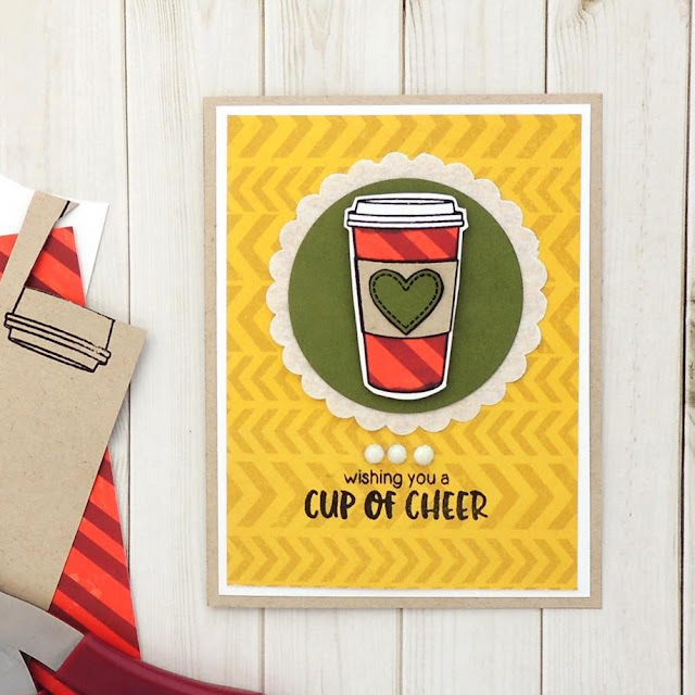 Sunny Studio Stamps: Mug Hugs Coffee Card Card by Creations Galore