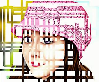 Edit foto pentagon efek kotak-kotak
