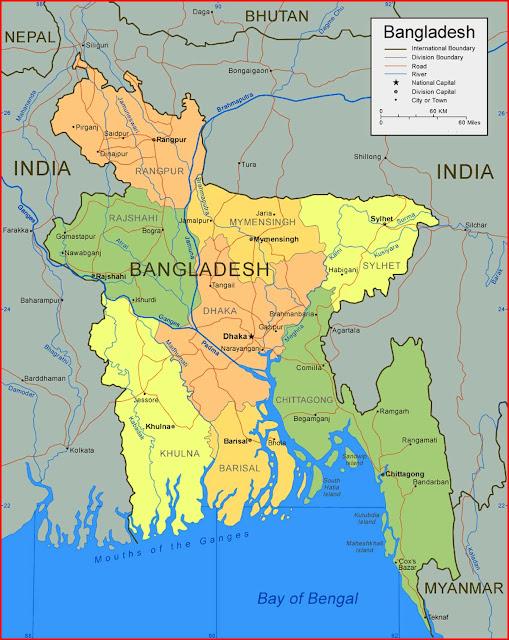 Gambar Peta Bangladesh