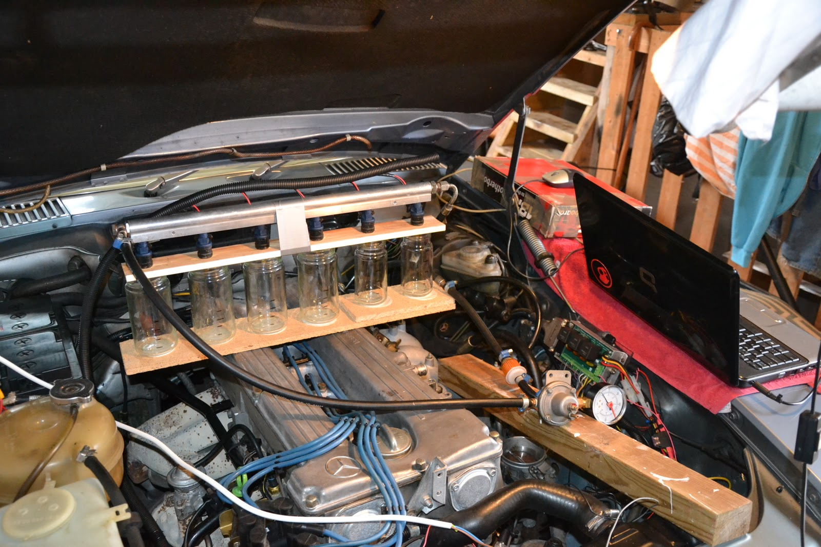 My Mercedes 280 SL -85 Project: Mounting everything