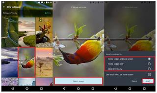 Cara mengatur wallpaper lock screen menggunakan Microsoft Launcher di Android