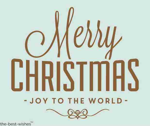 merry christmas joy to the world