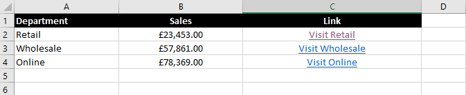 Excel Tip: Use HYPERLINK to link to another sheet