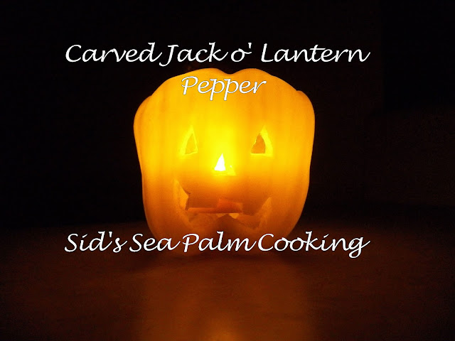 Carved pepper Jack o' lantern