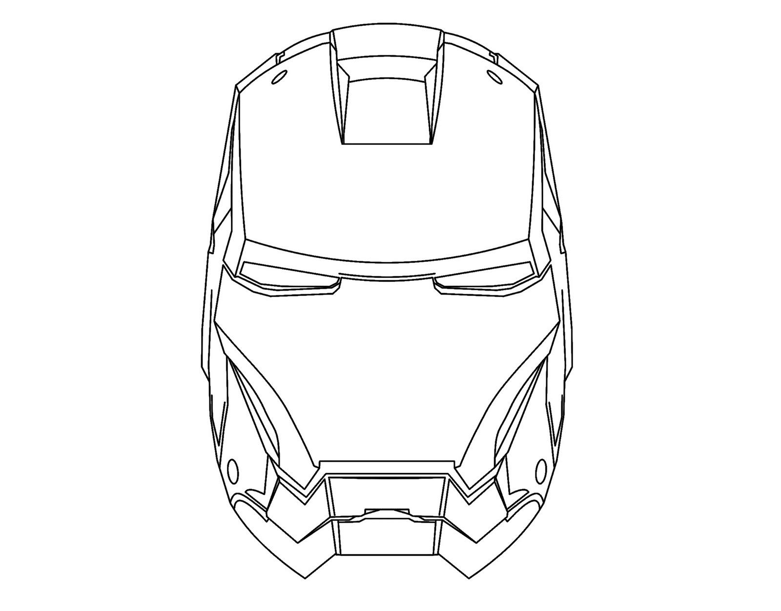 Iron Man Para Colorear Y Pintar Dibujo Views