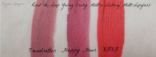 Rival de Loop Young Matt-Lipgloss Swatches