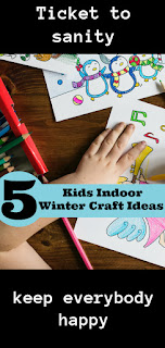 5 simple kid crafts for winter indoor rainy days