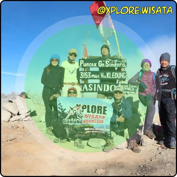 Paket Sindoro 2H1M Dari Yogyakarta - No Invoice 2019.cks.02.09A - Porter Tembi, Sigedang, Kledung, Bansari