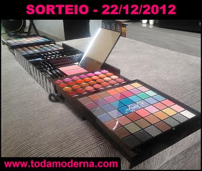 Sorteio: Kit Maquiagem 3D Jasmyne Profissional 188 Itens - 22/12