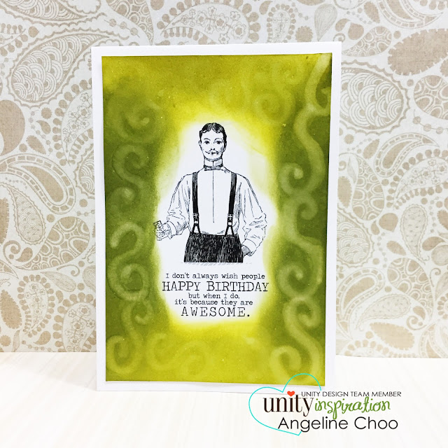 ScrappyScrappy: Angela's Birthday Celebration with Unity Stamp - Masculine Card #scrappyscrappy #unitystampco #papercraft #card #cardmaking #stamp #stamping #handmade #handmadecard #birthday #birthdaycard #timholtz #distress #quicktipvideo #youtube #video #masculinecard