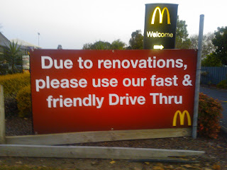 Due to renovations, please use our fast & friendly Drive Tru