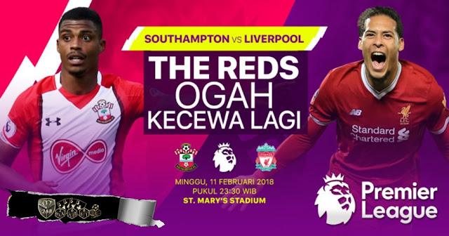 Prediksi Southampton Vs Liverpool, Minggu 11 February 2018 Pukul 23.30 WIB @ RCTI