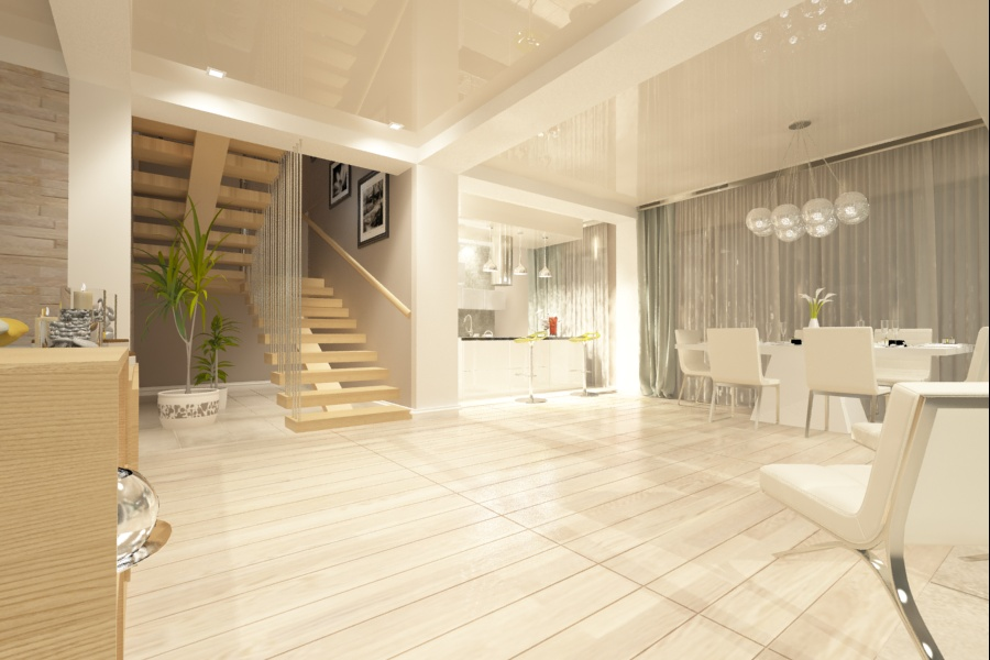Design interior living casa moderna Bucuresti