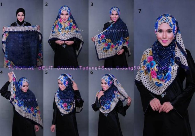 Tutorial Hijab Segi Empat Sederhana, Simple dan Modis untuk Muslimah yang Tak Suka Ribet