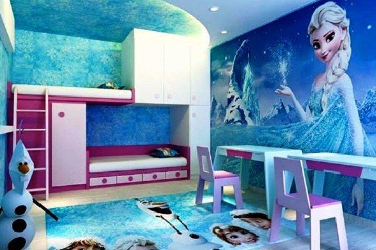 Desain Kamar Tidur Anak Perempuan Frozen