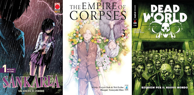 Cover italiane di Sankarea #1, Empire of corpses #3 e DeadWorld #1