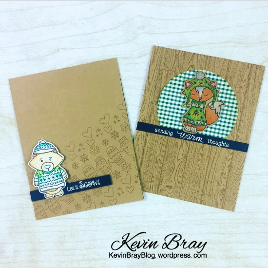 Sweater Weather Cards by January Guest Designer Kevin Bray | Sweater Weather Stamp set by Newton's Nook Designs #newtonsnook