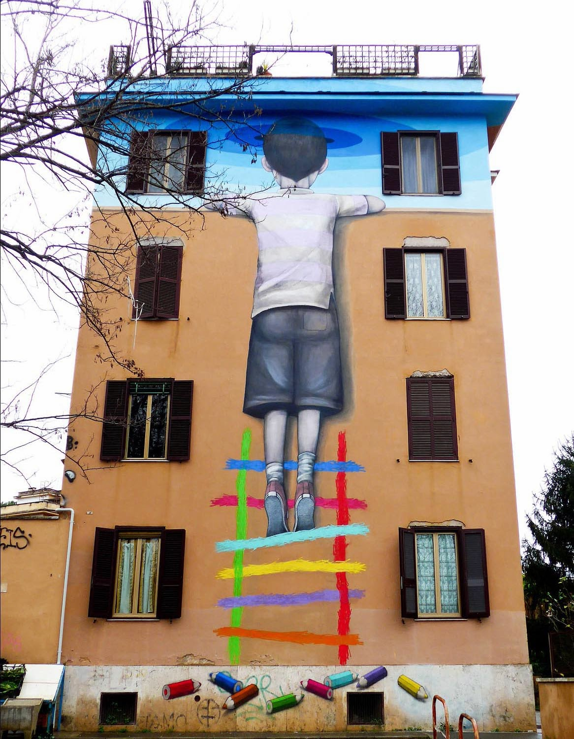 Seth Globepainter is currently in Italy where he just finished working on a brand new piece in the Tor Marancia district of Rome.