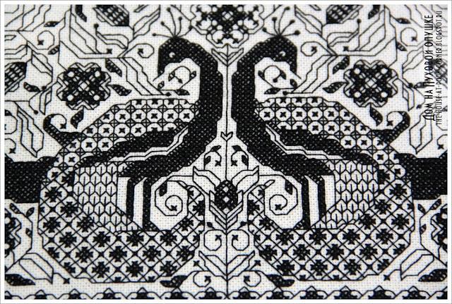 Традиционная вышивка блэкворк