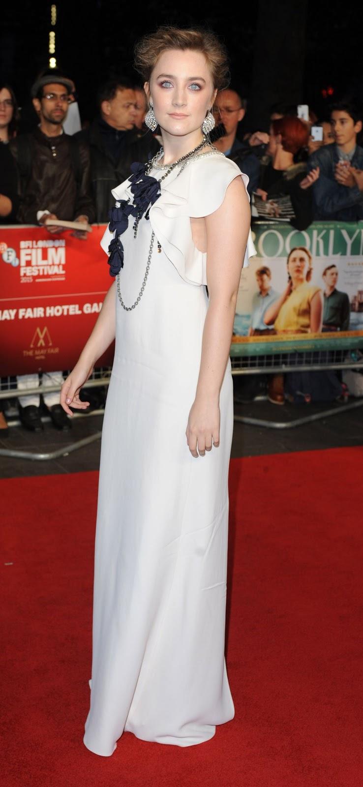 Saoirse Ronan at Brooklyn Premiere at BFI London Film Festival
