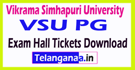 Vikrama Simhapuri University VSU PG Exam Hall Tickets Download