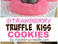 Strawberry Truffle Kiss Cookies