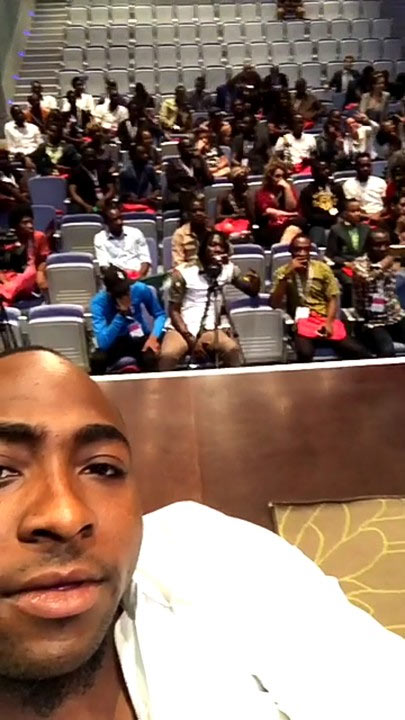 Davido welcomed by Gabon president as he hangs out with fans