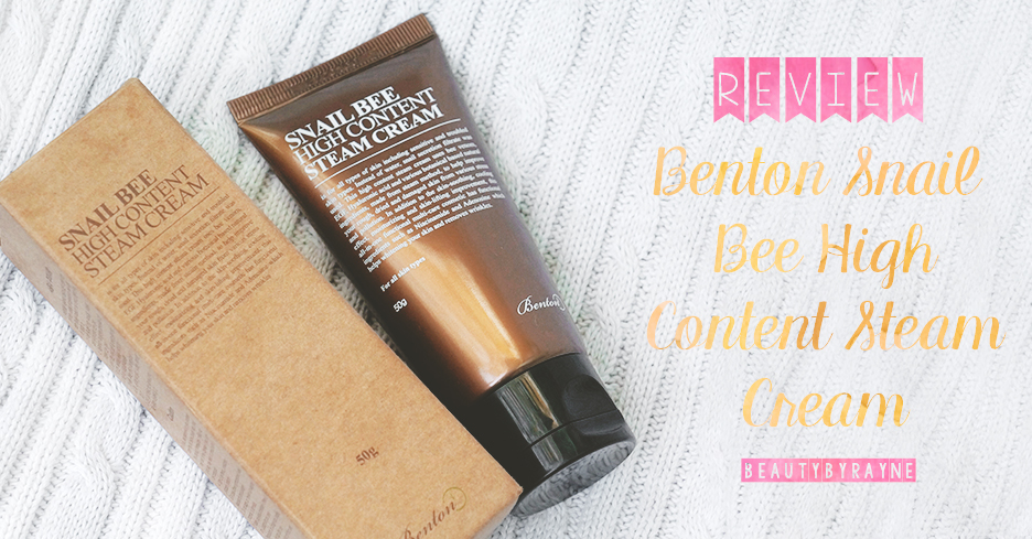 Benton Snail Bee High Content Steam Cream Review