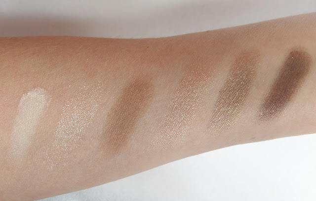 too faced natural love ultimate neutral eye shadow palette swatches