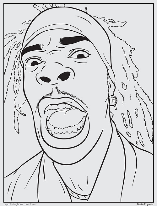 Psychology rap coloring book for Rapper coloring pages