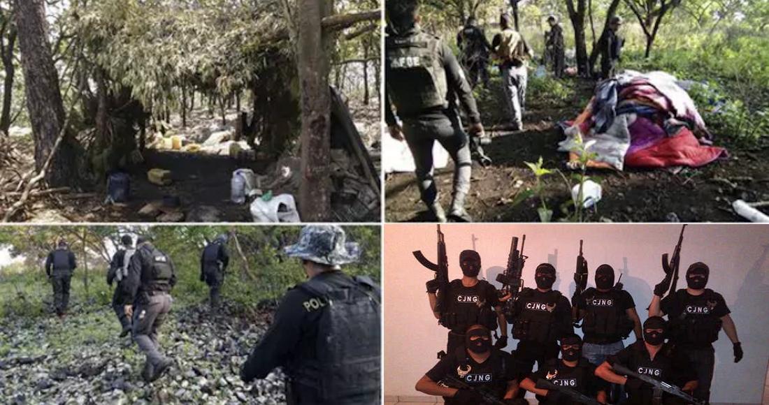 En Jalisco 23 narcocampamentos del CJNG operaban como centros de entrenamiento, sitios de resguardo y narcolaboratorios.
