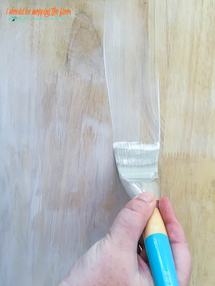 Easy Pickle Wash Finish | Achieve a soft white washed finish with these two simple steps.