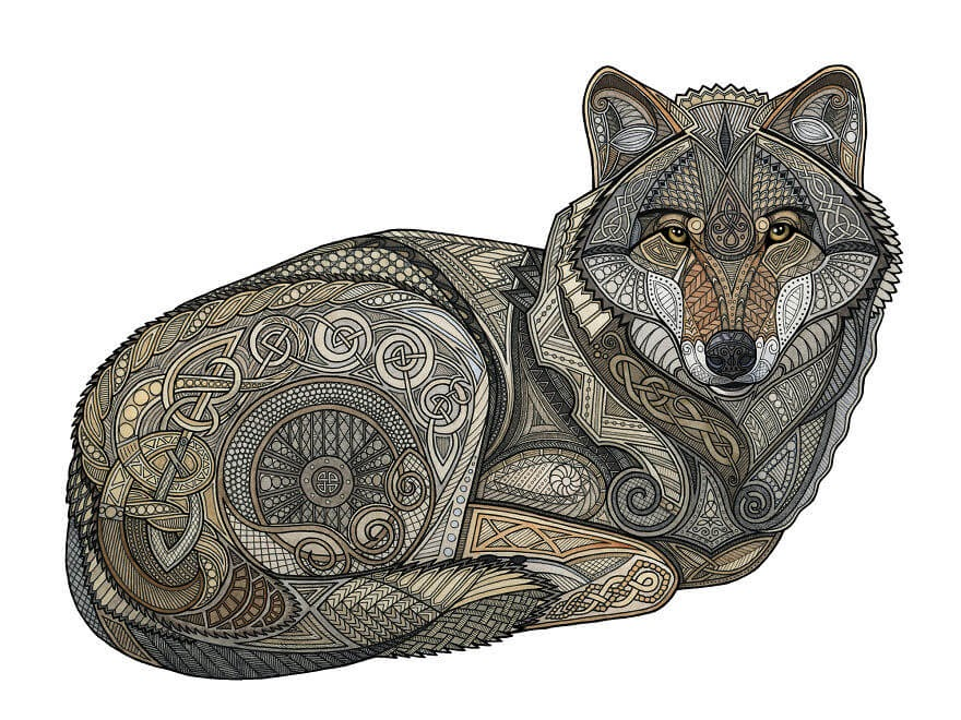 02-Norse-Wolf-Z-H-Field-Distinctive-Animal-Drawings-and-Paintings-www-designstack-co